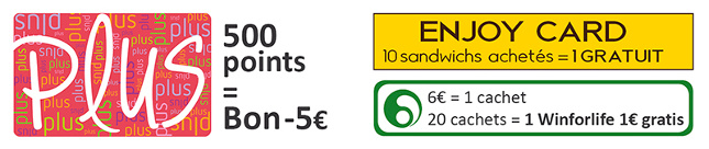 Avantages carte plus et enjoy card